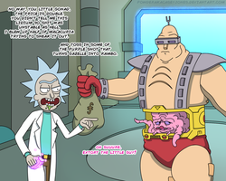 Rick And Krang by PowderAkaCaseyJones