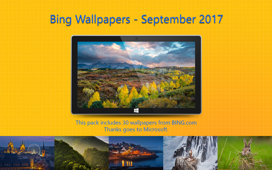 Bing Wallpapers - September 2017 by Misaki2009