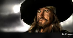 Hector Barbossa      blue eyes Blues by KomyFly