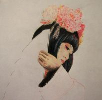 Geisha WIP by TanjaLouiseArtist
