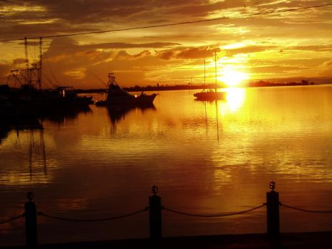 Harbor Sunset II by Dylactus