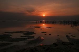 Sunrise at the Dead Sea by haimohayon