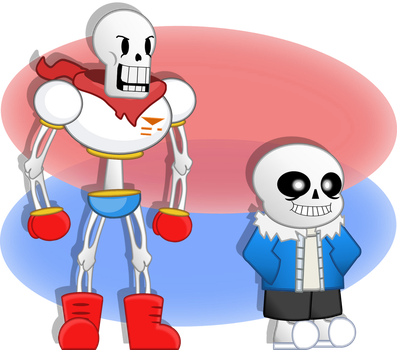 two happy bone bros by Lucky-Starstrlke