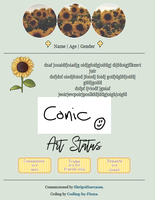 Sunflower Profile Coding [f2u] by Coding-by-Fiona