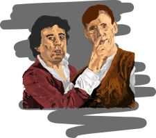 Terry Jones and Michael Palin by xchingx