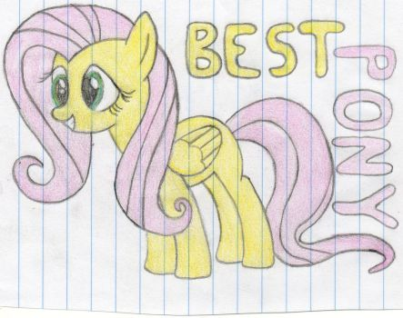 Fluttershy Trace Sketch by emillz1