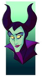 Maleficent by PsyDraws