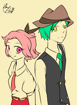 Agent P and Assistant F by 13Hael