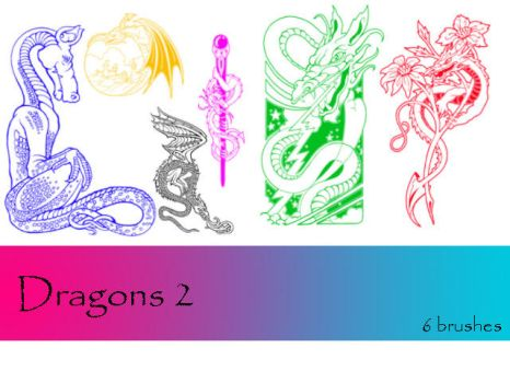 Dragons 2 by TD-Brushes