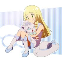 Lillie and volpix by pink-hudy