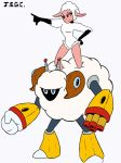 Leggy lamb and sheepman by jjjjoooo1234