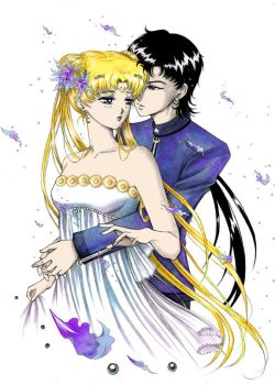 Serenity and Seiya by alexielart