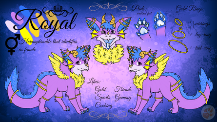 Ref Sheet of Royal by Spirit-ulf