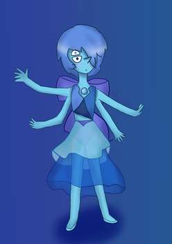 Lapis and Blue Pearl fusion by minathetsundere