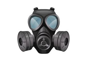Gas Mask Free Vector Illustration by superawesomevectors