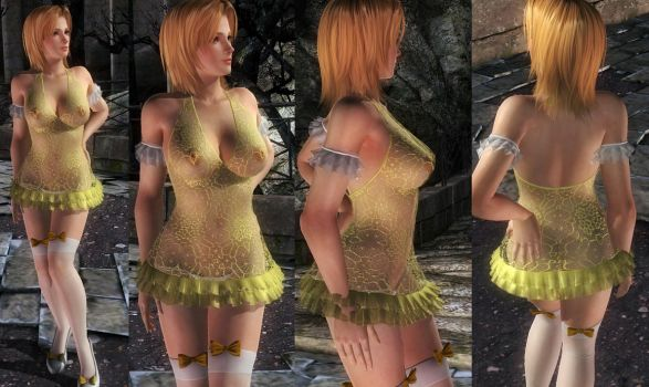 Tina Fishnet Dress by funnybunny666