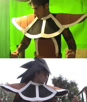 Raditz Costume WIP by Vegetanthony