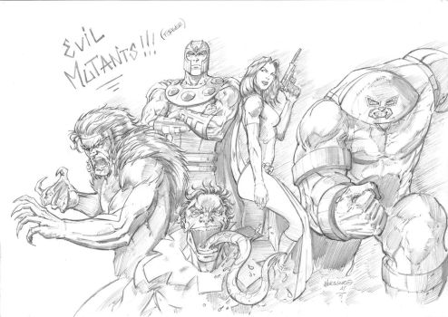 Evil Mutants Brotherhood pencils by MenguzzOArt