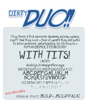 The Dirty duo font pack by shonenpunk