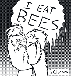 Inktober 05: Chicken by Moonlit-Comet