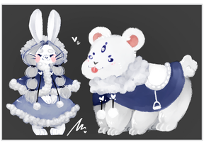 [CLOSED] LOWERED!!! Bun and Bear by WiviAdopts