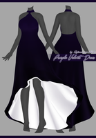 Purple Velvet Dress [Download] by Fujiwara-no-Moko