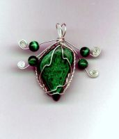 Twisted cage malachite by Attackfish