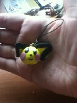 Pichu phone charm by PharaohBec