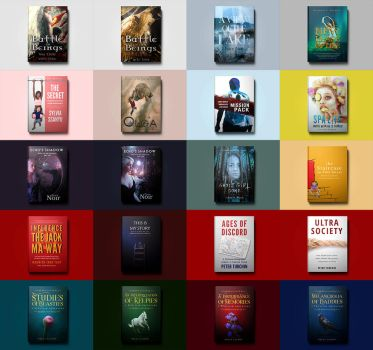 Book Covers - Fiction and Non-fiction by Gejda