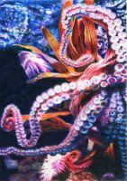 SOLD - Drawn to Help 28: Octopus's Garden by theperian