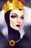 The Evil Queen by Down-The-Stairs