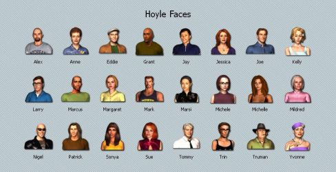 Hoyle Faces by the-ace