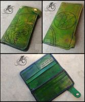 Cthulhu Leather Biker Wallet by JAFantasyArt
