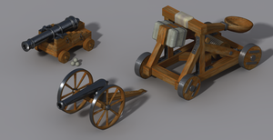 Cannons and catapult by Fenris-V