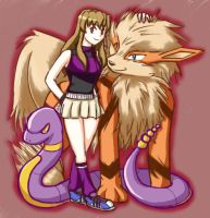 Shizuru as a Pokemon Trainer by winded-wolf