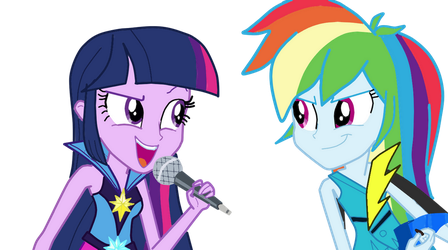 Twilight and Rainbow Dash: Music in me by NatouMJSonic