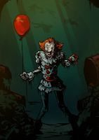 Pennywise IT fan art by efrein-pickman
