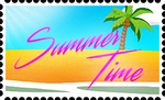 Summer Time Stamp by RetroUniverseArt