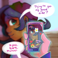 she doesn't know! by montdsigns