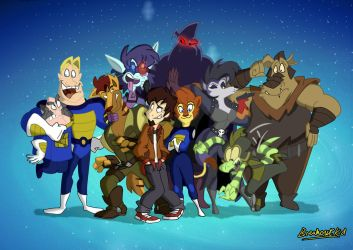 The Gang's all Here (In Color) by BreakoutClub