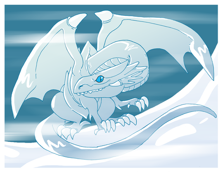Blue Eyes White Dragon for Charles Z! by Toodles3702