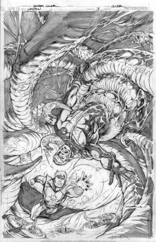 Legion Issue 3 cover pencils by Cinar
