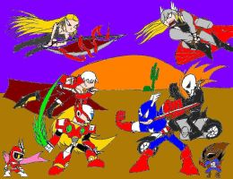 Marvel vs Capcom 3- Desert Battle by Thesimpleartist4