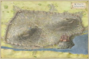 Official Map of King's Landing by torstan