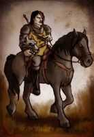 The Hound Goes Riding by Annie-Stuart