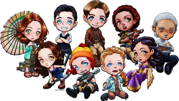 Chibi Damn Heroes by ghostfire