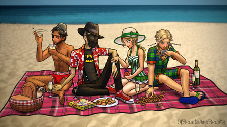 PotO Picnic at the Beach by ofbeautsandbeasts