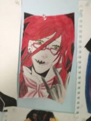 Grell in crayons by KaiNoKimi