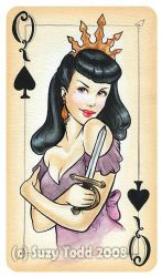 Queen of Spades by suzewad
