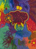 Psychedelic Octopus by Darkhood1337